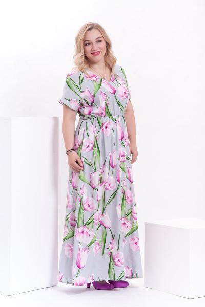Платье с короткими цельнокроеными рукавами, П-512