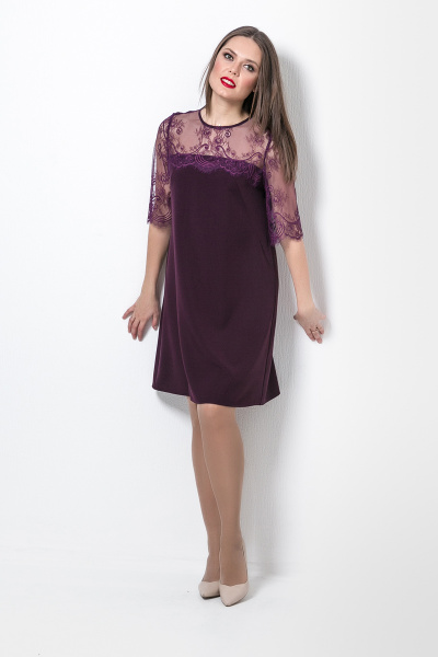 Платье с кружевом, П-565