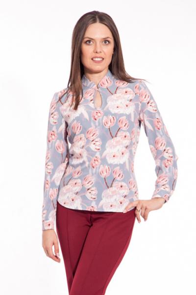 Блуза с цветочным принтом, Б-158/7